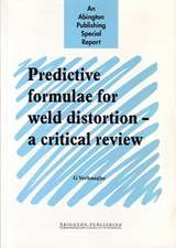 Predictive Formulae for Weld Distortion: A Critical Review