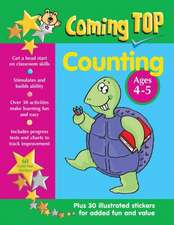 Coming Top Counting Ages 4-5:  Get a Head Start on Classroom Skills - With Stickers!