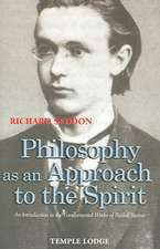 Philosophy as an Approach to the Spirit