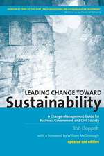 Leading Change Toward Sustainability