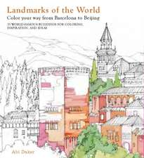 Landmarks of the World Colouring
