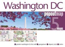 Washington DC Popout Map:  Cancer, Memory and Fragments of a Life in Words