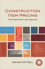 Cattell, D:  Construction Item Pricing