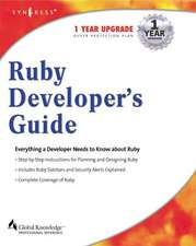 Ruby Developers Guide