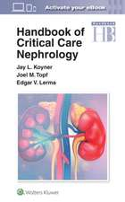 Handbook of Critical Care Nephrology