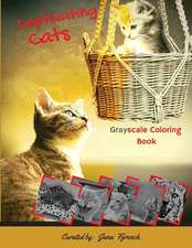 Captivating Cats Grayscale Coloring Book