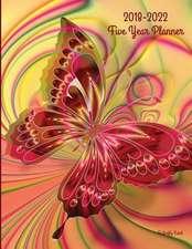 2018 - 2022 Butterfly Swirl Five Year Planner