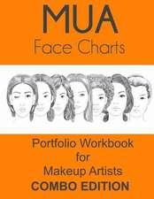 Mua Face Charts Portfolio Workbook for Makeup Artists Combo Edition