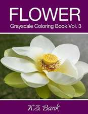 Flower Grayscale Coloring Book Vol. 3