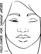Face Charts for Makeup Artists Sonia