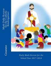 Math Daily Review for the Catholic Kindergartner