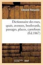 Dictionnaire Des Rues, Quais, Avenues, Boulevards, Passages, Places, Carrefours, Etc.