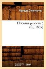 Discours Prononce (Ed.1885)
