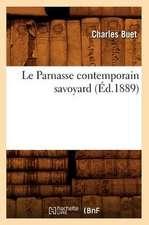 Le Parnasse Contemporain Savoyard (Ed.1889)