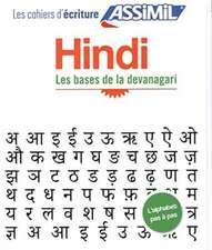 Cahier d'écriture Hindi
