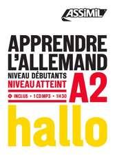 Apprendre L'Allemand - niveau A2: Book + 1 CD Mp3
