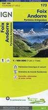 IGN 1 : 100 000 Foix Andorre