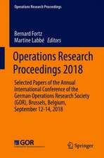 Operations Research Proceedings 2018