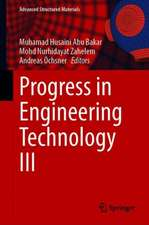 Progress in Engineering Technology III