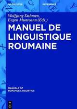 Manuel de linguistique roumaine