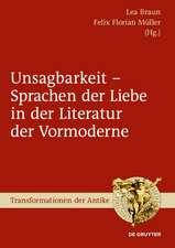 Unsagbarkeit - Sprachen der Liebe in der Literatur der Vormoderne