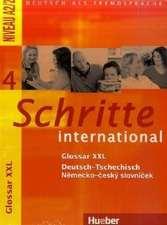 Schritte international 4. Kurs- und Arbeitsbuch mit Audio-CD und Glossar XXL Deutsch - Tschechisch