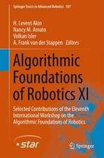 Algorithmic Foundations of Robotics XI
