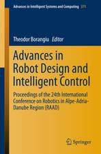 Advances in Robot Design and Intelligent Control: Proceedings of the 24th International Conference on Robotics in Alpe-Adria-Danube Region (RAAD)