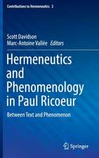 Hermeneutics and Phenomenology in Paul Ricoeur: Between Text and Phenomenon
