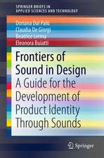 Frontiers of Sound in Design: A Guide for the Development of Product Identity through Sounds