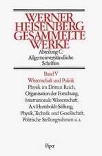 Gesammelte Werke Abt. C Bd. V. Wissenschaft und Politik