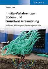 In–situ–Verfahren zur Boden– und Grundwassersanierung: Planung, Verfahren und Sanierungskontrolle
