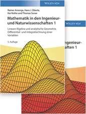 Mathematik in den Ingenieur– und Naturwissenschaften: Lineare Algebra und analytische Geometrie, Differential– und Integralrechnung einer Variablen Lehrbuch plus Aufgaben und Lösungen im Set