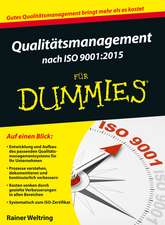 Qualitätsmanagement nach ISO 9001–2015 für Dummies