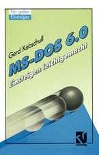 MS-DOS 6.0: Einsteigen leichtgemacht