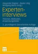 Experteninterviews: Theorien, Methoden, Anwendungsfelder