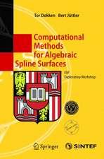 Computational Methods for Algebraic Spline Surfaces: ESF Exploratory Workshop