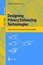 Designing Privacy Enhancing Technologies: International Workshop on Design Issues in Anonymity and Unobservability, Berkeley, CA, USA, July 25-26, 2000. Proceedings