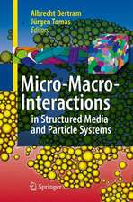 Micro-Macro-Interactions: In Structured Media and Particle Systems