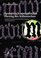 Syntaktisch-Semantisches Parsing Des Italienischen