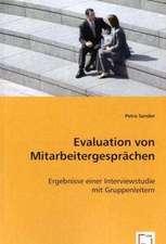 Evaluation von Mitarbeitergesprächen
