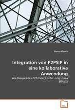 Integration von P2PSIP in eine kollaborative Anwendung