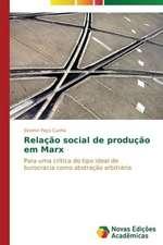 Relacao Social de Producao Em Marx:  O Que Pensam OS Professores?