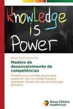 Modelo de Desenvolvimento de Competencias:  O Ser, O Sofrimento E Seus Destinos