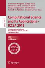 Computational Science and Its Applications -- ICCSA 2013: 13th International Conference, ICCSA 2013, Ho Chi Minh City, Vietnam, June 24-27, 2013, Proceedings, Part V