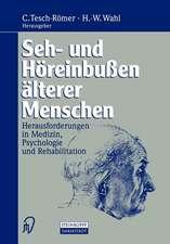 Seh- und Höreinbußen älterer Menschen: Herausforderungen in Medizin, Psychologie und Rehabilitation