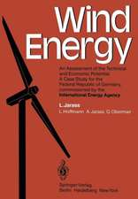Wind Energy: An Assessment of the Technical and Economic Potential A Case Study for the Federal Republic of Germany, commissioned by the International Energy Agency