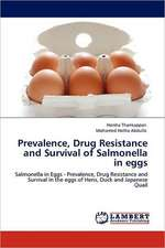 Prevalence, Drug Resistance and Survival of Salmonella in eggs