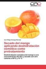 Secado del Mango Aplicando Deshidratacion Osmotica Como Pretratamiento