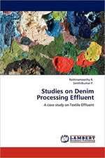 Studies on Denim Processing Effluent
